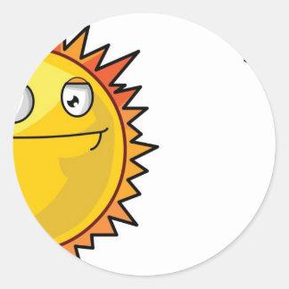 Sun and Moon Round Sticker