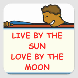 sun and moon square sticker