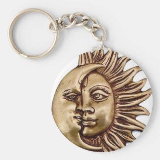 SUN AND MOON TALISMAN BASIC ROUND BUTTON KEY RING