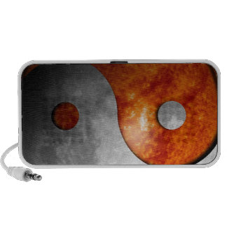 Sun and Moon Yin and Yang Symbol iPhone Speakers