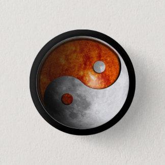 Sun and Moon Yin Yang 3 Cm Round Badge