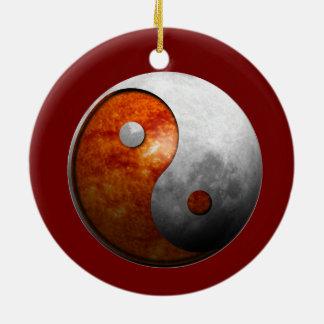 Sun and Moon Yin Yang Christmas Ornament
