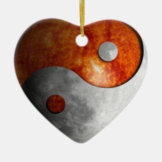 Sun and Moon Yin Yang Christmas Ornament