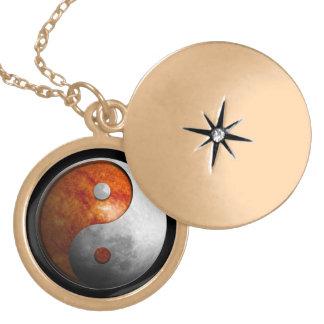 Sun and Moon Yin Yang Locket Necklace