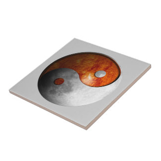 Sun and Moon Yin Yang Tile