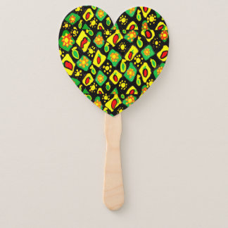 Sun and peppers hand fan
