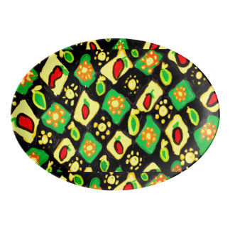 Sun and peppers porcelain serving platter