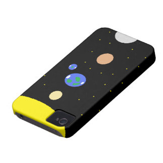Sun and planets iPhone 4 cover
