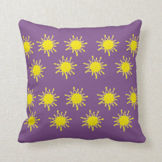 Sun and purple Throw Cushion
