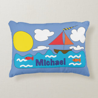 Sun and Sea Customized Pillow