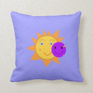Sun and Smiley Cushion