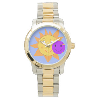 Sun and Smiley Watch