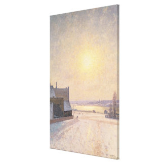 Sun and Snow, Scene from Stockholm Gallery Wrapped Canvas