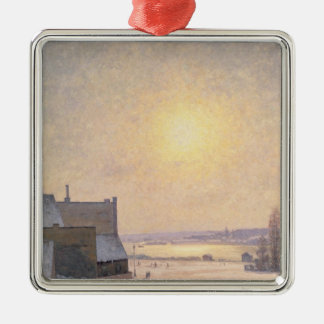 Sun and Snow, Scene from Stockholm Christmas Ornament