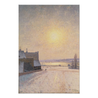 Sun and Snow, Scene from Stockholm Poster