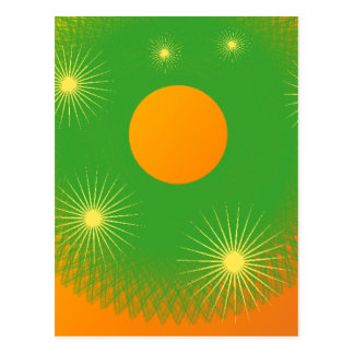 sun and star in the universe postcard