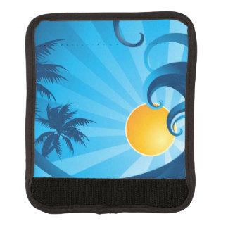Sun and Surf Sea Wave Illustration Handle Wrap