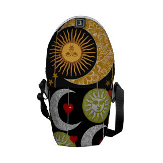 Sun and the Moon Messenger Bags