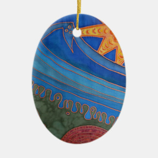 Sun and Waves Ceramic Oval Decoration