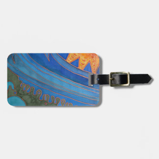 Sun and Waves Luggage Tag