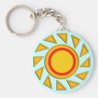 SUN BASIC ROUND BUTTON KEY RING