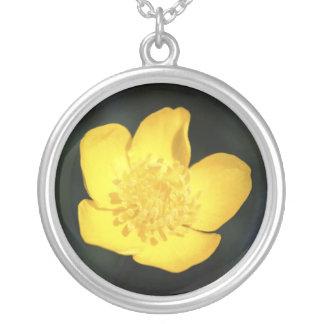 Sun-Bathed Buttercup Round Pendant Necklace