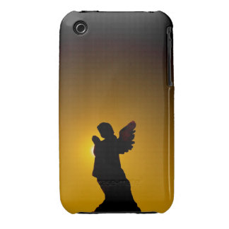 Sun Bathing Angel Silhouette iPhone 3 Cases