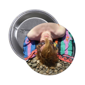 Sun Bathing 6 Cm Round Badge