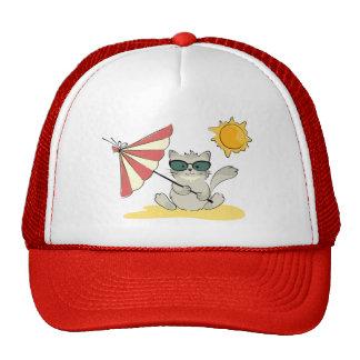 Sun Bathing Cool Cat Hat
