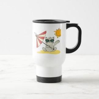 Sun Bathing Cool Cat Coffee Mug