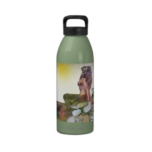 Sun Bathing Mermaid Water Bottle