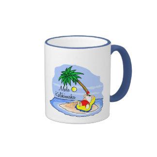 Sun Bathing Santa hawaiian xmas tee 5 Mugs