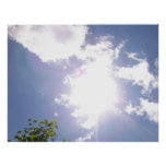 Sun Beam and Clouds Poster