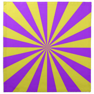 Sun Beams in Violet and Yellow Napkins