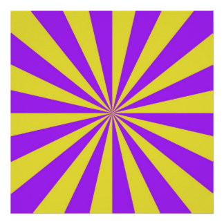 Sun Beams in Violet and Yellow Poster