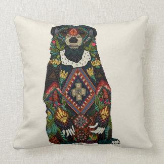 sun bear almond cushion