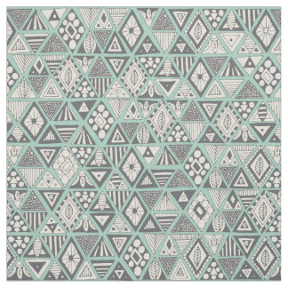 sun bear geo mint silver fabric