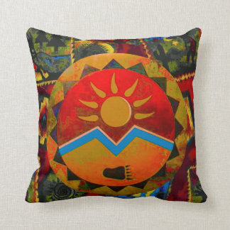 Sun Bear Native American Symbol Pillow