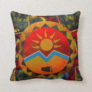 Sun Bear Native American Symbol Pillow Cushion