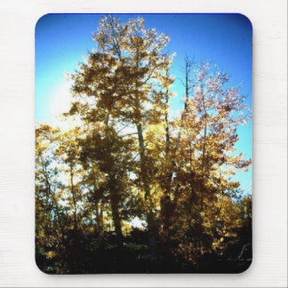 sun behind the trees mousepad