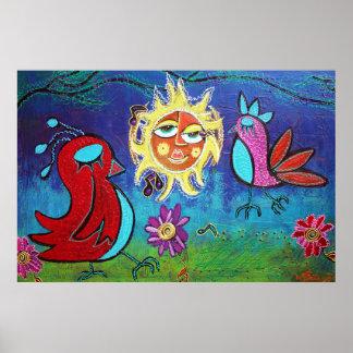 Sun Birds Poster
