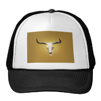 sun bleached steer skull cap