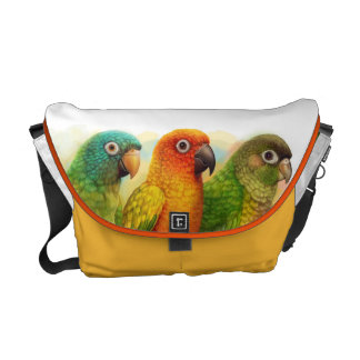 Sun blue-crowned green-cheeked conures commuter bags