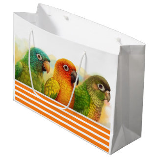 Sun blue-crowned green-cheeked conures large gift bag