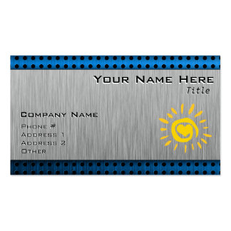 Sun; brushed metal-look pack of standard business cards