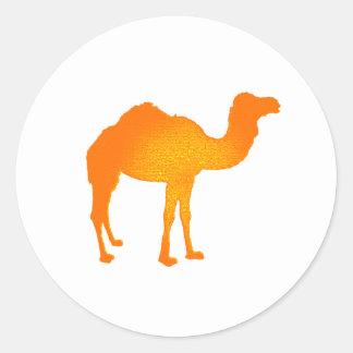Sun Camel Round Sticker