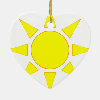 Sun Ceramic Heart Decoration