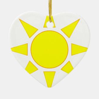 Sun Christmas Ornament