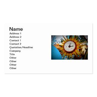 Sun Clock Pack Of Standard Business Cards