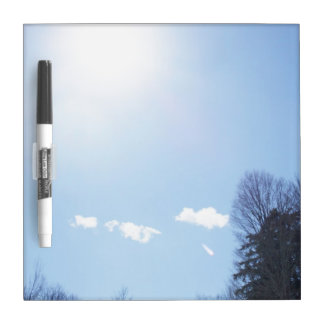 Sun Clouds Tree Tops Dry Erase Board